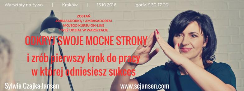 Warsztaty live – Coaching mocnych stron, Kraków